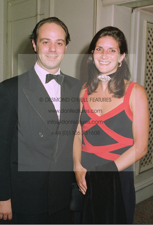 PRINCE & PRINCESS DIMITRI LOBANOV-ROSTOVSKY  at a ball in London on 29th September 1997.MBS 24