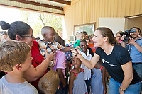 Jennifer Garner, Save the Children trustee and ambassador, visits Joann's Day Care in Houston, Texas, to see the damage caused by Hurricane Harvey and distribute childcare supplies on Friday, Sept. 8, 2017. <br />