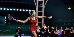 SHENZHEN, Jan. 6, 2018  Simona Halep of Romania hits a return during the final against Katerina Siniakova of the Czech Republic at the WTA Shenzhen Open tennis tournament in Shenzhen, China, Jan. 6, 2018. Simona Halep won 2-1. (Credit Image: © Mao Siqian/Xinhua via ZUMA Wire)