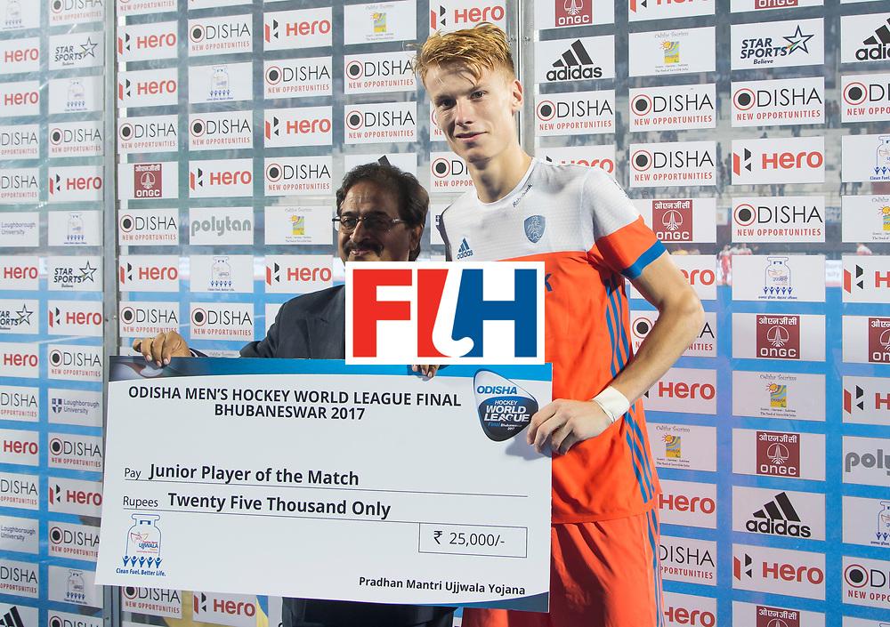 BHUBANESWAR - match 08. Netherlands v Argentina. Junior Player of the match, Joep de Mol (Ned)  COPYRIGHT  KOEN SUYK