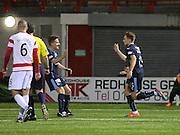 Greg Stewart celebrates his goal -  Hamilton Academical v Dundee, SPFL Premiership at New Douglas Park<br /> <br />  - &copy; David Young - www.davidyoungphoto.co.uk - email: davidyoungphoto@gmail.com