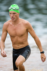 ..The 2007 Xterra Charlottesville Triathlon was held at Walnut Creek Park in southern Albemarle County, near Charlottesville, VA on August 19, 2007.  Competitors swam 3/4 of a mile in the Walnut Creek Lake, followed by a 11.5 mile mountain bike trail segment, followed by a 4 mile trail run..