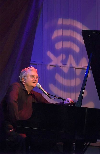 Randy Newman performs at XM's Artist Confidential on Thursday December 2, 2004.  Newman is an American songwriter, arranger, singer and pianist who is notable for his mordant pop songs and for his many film scores.
