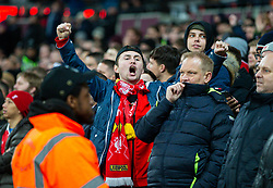 LONDON, ENGLAND - Wednesday, January 29, 2020: Liverpool supporters during the FA Premier League match between West Ham United FC and Liverpool FC at the London Stadium. (Pic by David Rawcliffe/Propaganda)