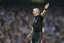 MANCHESTER, ENGLAND - Sunday, January 8, 2012: Referee Chris Foy during the FA Cup 3rd Round match between Manchester City and Manchester United at the City of Manchester Stadium. (Pic by Vegard Grott/Propaganda)