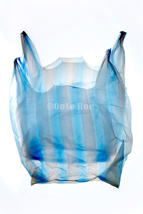 double layered thin plastic  grocery bag