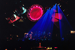 Space. The Grateful Dead live in concert at the Nassau Coliseum, Uniondale NY, 4 April 1993.
