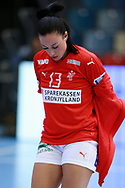 Simone Böhme fra Danmark under VM-playoff-kampen mellem Danmark og Schweiz i Roskilde Kongrescenter Bauhaus Arena, den 1.6.2019. Photo Credit: Allan Jensen/Søren Tidemann/EVENTMEDIA.