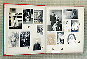open page of an old family photo album Japan Asia 1930s