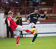 Dundee&rsquo;s Marcus Haber and Brechins' Euan Spark - Brechin City v Dundee pre-season friendly at Glebe Park, Brechin, Photo: David Young<br /> <br />  - &copy; David Young - www.davidyoungphoto.co.uk - email: davidyoungphoto@gmail.com