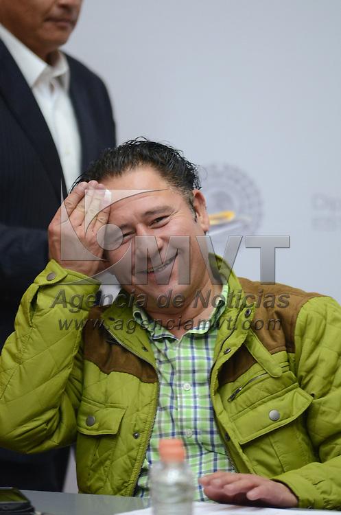 Toluca, México (Septiembre 1, 2016).- Rubén Hernández Magaña, secretario de la Comisión Legislativa de Protección Civil, durante las reuniones de trabajo de las comisiones legislativas en la cámara de diputados. Agencia MVT / Arturo Hernández.