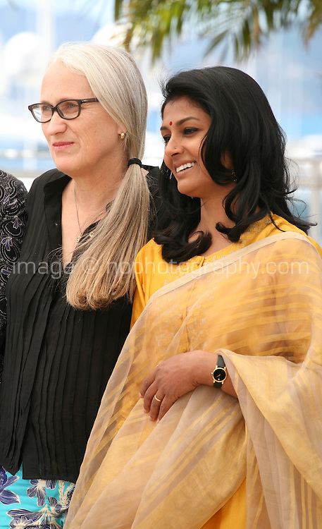 Jane Campion, Nandita Das, at the Jury Cinefondation photocall Cannes Film Festival on Wednesday 22nd May 2013