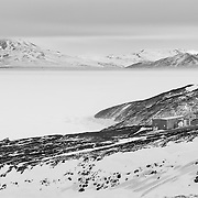 The longest continuously running experiment here at McMurdo is the Cosmic Ray Observatory, or Cos-Ray, which has been studying low-energy cosmic rays since 1960.  It detects secondary sub-atomic neutral particles, neutrons, produced when the original cosmic ray hits the Earth's atmosphere. It's one of a dozen sites around the world, part of the neutron monitoring network called Spaceship Earth.