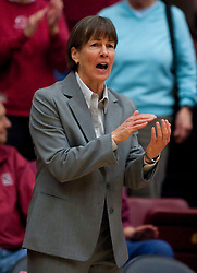 December 15, 2009; Stanford, CA, USA;  Stanford Cardinal Cardinal head coach Tara VanDerveer  during the first half against the Duke Blue Devils at Maples Pavilion.