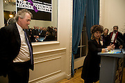 HENRY PORTER; BARONESS HELENA KENNEDY QC, Vanity Fair, Baroness Helena Kennedy QC and Henry Porter launch ' The Convention on Modern Liberty'. The Foreign Press Association. Carlton House Terrace. London. 15 January 2009 *** Local Caption *** -DO NOT ARCHIVE-© Copyright Photograph by Dafydd Jones. 248 Clapham Rd. London SW9 0PZ. Tel 0207 820 0771. www.dafjones.com.<br /> HENRY PORTER; BARONESS HELENA KENNEDY QC, Vanity Fair, Baroness Helena Kennedy QC and Henry Porter launch ' The Convention on Modern Liberty'. The Foreign Press Association. Carlton House Terrace. London. 15 January 2009