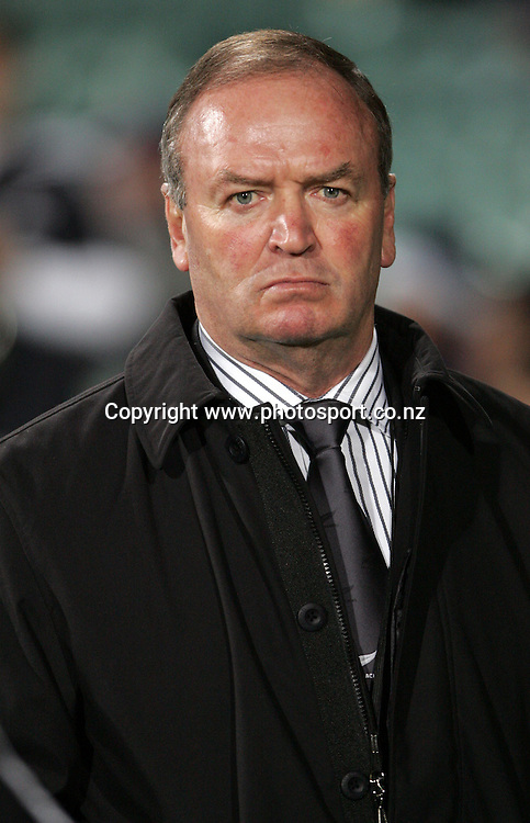 All Black coach Graham Henry prior to the All Blacks v Fiji test match played at Albany Stadium in Auckland on Friday 10 June, 2005. The All Black won 91-0. Photo: Michael Bradley/PHOTOSPORT