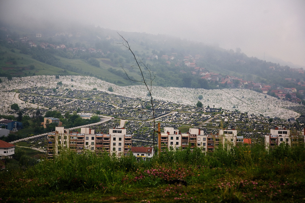 Cemeteries in the Kosevo neighborhood of Sarajevo.