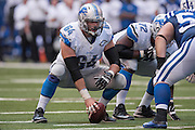 September 11, 2016: Detroit Lions center Travis Swanson (64) during the week 1 NFL game between the Detroit Lions and Indianapolis Colts at Lucas Oil Stadium in Indianapolis, IN.  (Photo by Zach Bolinger/Icon Sportswire)