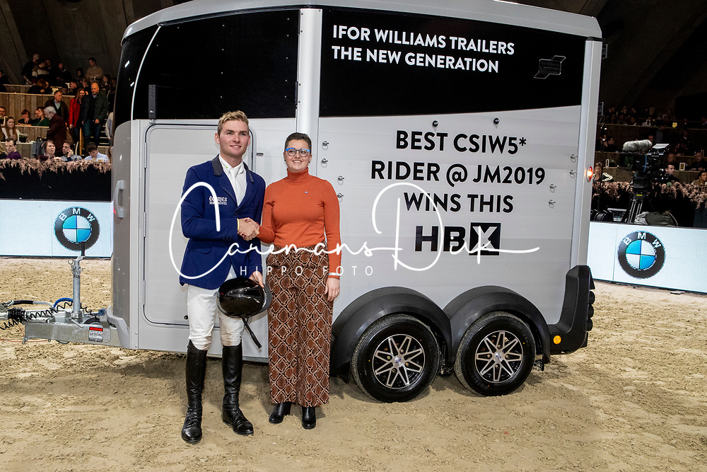 Balsigger Bryan, SUI, best rider of the show<br /> Jumping Mechelen 2019<br /> © Hippo Foto - Dirk Caremans<br />  30/12/2019