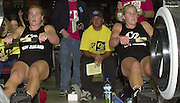 &copy; 2001 Peter Spurrier Sports  Photo.email pictures@rowingpics.com.Tel 44 (0) 7973 819 551.&copy; Peter Spurrier.18-11-2001.PPP Healthcare - British Indoor Rowing Championship.The National Indoor Arena.Caroline Evers-Swindell (Right) and twin sister Georgina.   (Hamilton - New Zealand). [Mandatory Credit: Peter SPURRIER/Intersport Images]<br /> <br /> 20011118 British Indoor Rowing Championships, Birmingham.