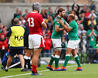 Rugby Union - 2019 pre-Rugby World Cup warm-up (Guinness Summer Series) - Ireland vs. Wales<br /> <br /> Rory Best (c) (Ireland) and Iain Henderson (Ireland) at The Aviva Stadium.<br /> <br /> COLORSPORT/KEN SUTTON