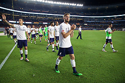 NEW YORK, NEW YORK, USA - Wednesday, July 24, 2019: Liverpool's Nathaniel Phillips applauds the supporters after a friendly match between Liverpool FC and Sporting Clube de Portugal at the Yankee Stadium on day nine of the club's pre-season tour of America. The game ended in a 2-2 draw. (Pic by David Rawcliffe/Propaganda)