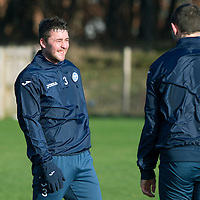 St Johnstone Training…..29.01.16<br />Tam Scobbie pictured during training at McDiarmid Park this morning ahead of tomorrow's League Cup semi-final against Hibs at Tynecastle<br />Picture by Graeme Hart.<br />Copyright Perthshire Picture Agency<br />Tel: 01738 623350  Mobile: 07990 594431