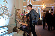 MARY CHARTERIS; ROBIE FURZE;, Glenda Bailey's Bazaar Greatest Hits book party. Savile Club. Brook St. London. 18 September 2011. <br /> <br />  , -DO NOT ARCHIVE-© Copyright Photograph by Dafydd Jones. 248 Clapham Rd. London SW9 0PZ. Tel 0207 820 0771. www.dafjones.com.