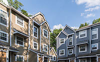 Exterior image of Timberlawn Crescent apartemtns in Maryland by Jeffrey Sauers of Commercial Photographics, Architectural Photo Artistry in Washington DC, Virginia to Florida and PA to New England