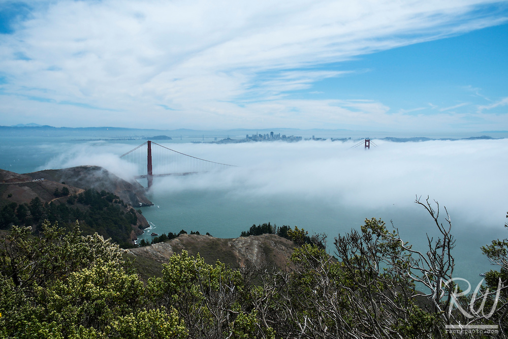 Summer Fog Rolling Into San Francisco from Marin Headlands, Golden Gate National Recreation Area, California