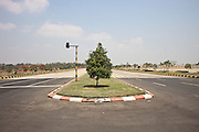 An empty road in the new capital. Nap Pyi Taw, Myanmar. 2012