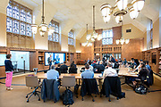 Photo by Mara Lavitt<br /> April 26, 2019<br /> Franke Family Digital Humanities Laboratory, Sterling Memorial Library, Yale University.<br /> <br /> The Yale-Smithsonian Partnership held a one-day symposium entitled: Machine Vision for Cultural Heritage & Natural Science Collections.