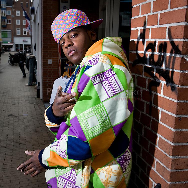 Groningen 18/9/2008. rapper Desean aka De Boeren Kroeskop. foto: Pepijn van den Broeke