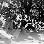 LA DIRIGENTE ESTUDIANTIL CAMILA VALLEJO, DURANTE EL LANZAMIENTO DE LA CAMPAÑA POR LA PRESIDENCIA DE LA FEDERACION DE ESTUDIANTES DE LA UNIVERSIDAD DE CHILE, FECH. 22-11-2011 (©Alvaro de la Fuente/TRIPLE)