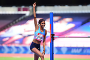 Vashti Cunningham (USA) clears 1.97m in the high jump to claim second during the Muller Anniversary Games at the London Stadium, London, England on 9 July 2017. Photo by Jon Bromley.