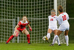 NORMAL, IL - October 17:  Tate Barney during an NCAA Missouri Valley Conference (MVC)  women's soccer match between the Indiana State Sycamores and the Illinois State Redbirds October 17 2018 on Adelaide Street Field in Normal IL (Photo by Alan Look)