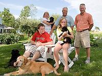 John Sherman, Jim, Kathleen, Justin and Emily Sherman.