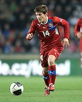 Fussball International, Nationalmannschaft   EURO 2012 Play Off, Qualifikation, Tschechische Republik - Montenegro        11.11.2011 Vaclav Pilar (Tschechische Republik)