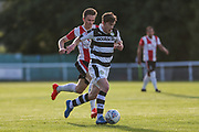 Forest Green Rovers Luke James runs forward during the Pre-Season Friendly match between Shortwood United and Forest Green Rovers at Meadowbank Ground, Nailsworth, United Kingdom on 14 July 2017. Photo by Shane Healey.