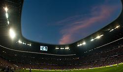 11.09.2010, Allianz Arena, München, GER, 1. FBL, FC Bayern München vs Werder Bremen, im Bild die Allianz Arena in der blauen Stunde, EXPA Pictures © 2010, PhotoCredit: EXPA/ J. Feichter