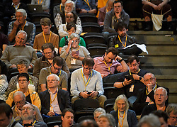 © Licensed to London News Pictures. 18/09/2018. Brighton, UK.  Delegates attend the final day of the Liberal Democrat Autumn Conference in Brighton, East Sussex on September 18, 2018. This years event has been mainly focused around Brexit, the UK's departure from the EU. Photo credit: Ben Cawthra/LNP