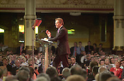 PHOTOGRAPH BY HOWARD BARLOW..LABOUR CONF....TONY BLAIR DELIVERS HIS KEYNOTE SPEACH TO CONFERENCE