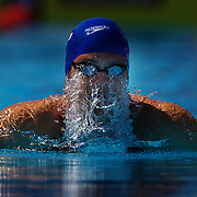 Richard Webb, Great Britain, in action during the Men's 200m Breaststroke heats at the World Swimming Championships in Rome on Thursday, July 30, 2009. Photo Tim Clayton..