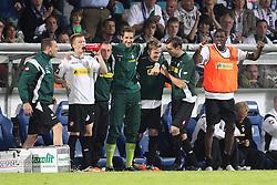 25.05.2011, rewirpowerstadion, Bochum, GER, 1.FBL, Vfl Bochum vs Borussia Moenchengladbach, Relegation Rueckspiel, im Bild: Mohamadou Idrissou (Gladbach) (R) jubelt. Ganz links steht Marco Reus (Gladbach) EXPA Pictures © 2011, PhotoCredit: EXPA/ nph/  Mueller       ****** out of GER / SWE / CRO  / BEL ******