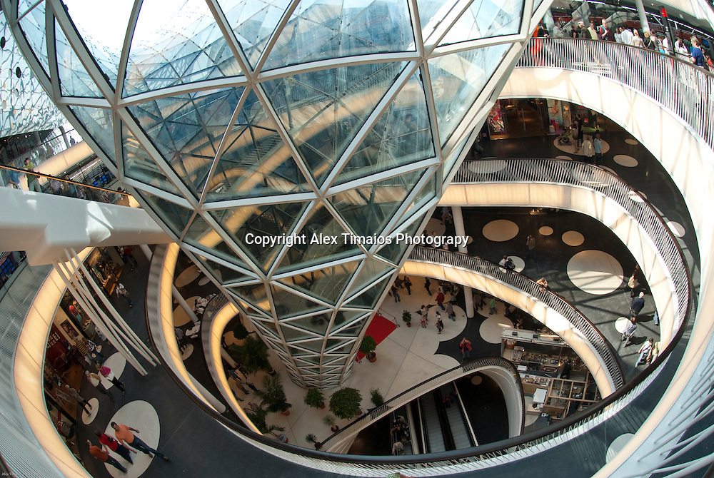 The new shopping center myZeil in Frankfurt am Main, Germany
