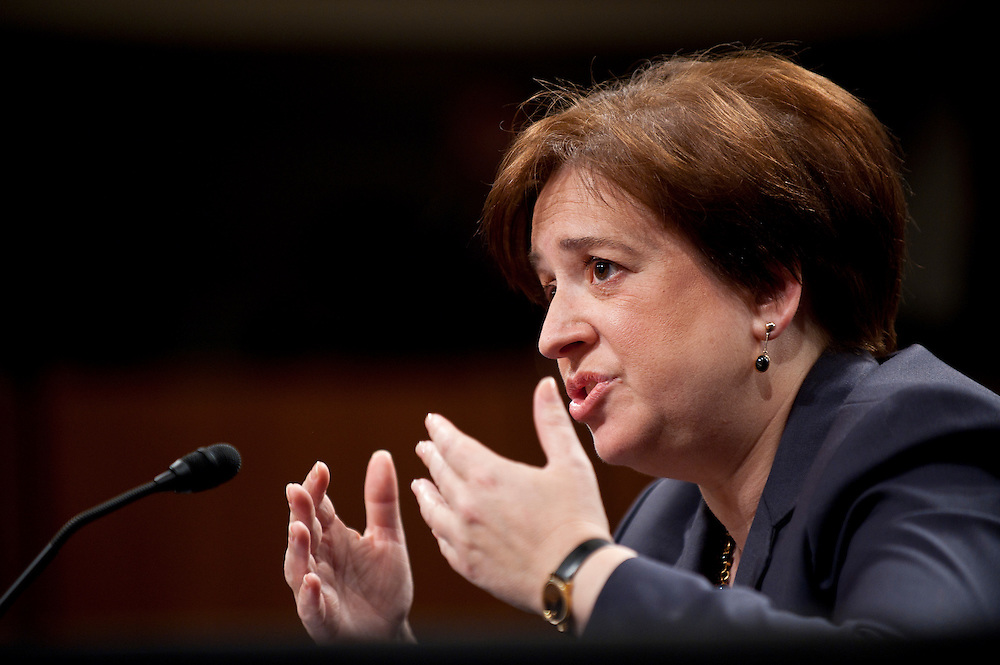 June 29, 2010 - Washington, District of Columbia, U.S., -  Solicitor General Elena Kagan appears before the Senate Judiciary Committee for her second day of hearings on her nomination to be an associate justice of the Supreme Court.(Credit Image: © Pete Marovich/ZUMA Press)