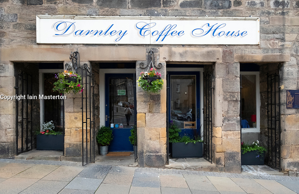Exterior of Darnley Coffee House in Stirling, Scotland , UK