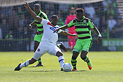 Forest Green Rovers Drissa Traoré(4) on the ball during the Vanarama National League Play Off second leg match between Forest Green Rovers and Dagenham and Redbridge at the New Lawn, Forest Green, United Kingdom on 7 May 2017. Photo by Shane Healey.