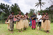 Traditional Fijian dancers
