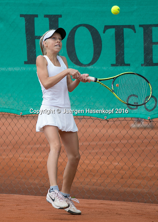 Tennis Europe-Bavarian Junior Open, Laura Isabel Putz(GER) GS14<br /> <br /> Tennis - Bavarian Junior Open 2016 - Tennis Europe Junior Tour -  SC Eching - Eching - Bayern - Germany  - 11 August 2016. <br /> &copy; Juergen Hasenkopf